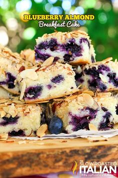 Blueberry Almond Breakfast Cake is the perfect combination of blueberry and almond in a tender butter cake. This recipe comes together so easily with just a handful of ingredients you will find yourse