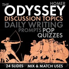 Get your students talking about the characters, plot twists, and deeper thematic messages in Homer's classic tale, The Odyssey.