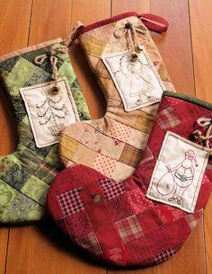 Embroidered Christmas Stockings