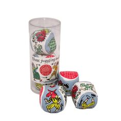 SHAKESPEARE'S GLOBE JUGGLING BALLS  £4.00 A set of three bright and colourful juggling balls in a presentation tube. Each juggling ball features characters from the Globe Theatre. Created exclusively for Shakespeare's Globe.