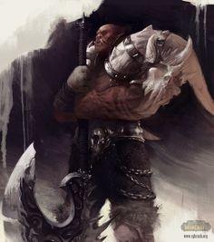 Garrosh Hellscream by gloominati - Christof Grobelski - CGHUB Warcraft Art, World Of Warcraft, Garrosh Hellscream, Barbarian Armor, Hearthstone Heroes, Monster Characters, Fantasy Characters, Heroes Of The Storm, Video Game Art