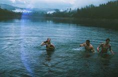 swim in the cold