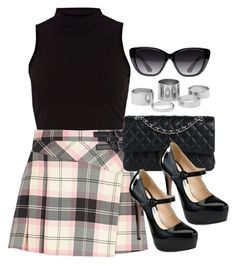 """""""Style #10116"""" by vany-alvarado ❤ liked on Polyvore featuring River Island, Chanel, Prada and Elizabeth and James"""