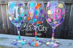 Personalized Wine Glass 20 oz Holidays Weddings by ahindle78, $10.00