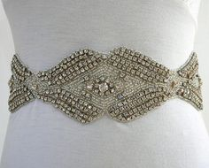 Daniel Design Vintage Chic. This crystal wedding sash is hand beaded and custom colors are available upon request.