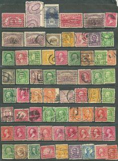 US 66 valuable 19th century stamps # 220 - 2¢ Washington, # 644 - 2¢ Burgoyne Su