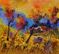 Autum 884101, painting by artist ledent pol