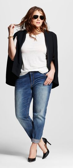 Plus Size Cape Blazer - Who What Wear for Target