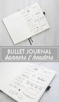 Bullet Journal Banners & Headers