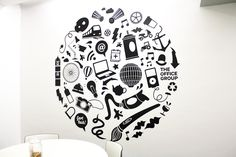 We were asked by The Office Group, Bristol to create a vinyl wall decal for one of their meeting rooms. Thedesignneeded to be playful whilst includingelementsrelating to the geographical location of The Office as well ..