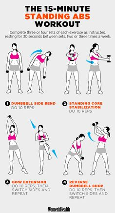 Standing abs workout.