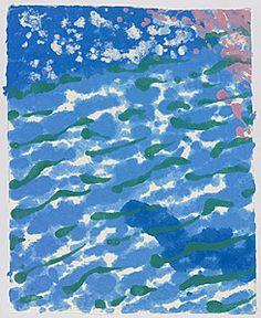 David Hockney A Diver, paper pool 17. Love how he renders the water