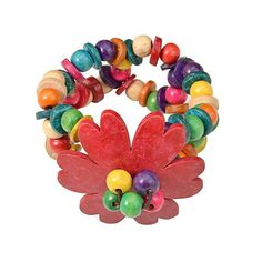 Colorful wooden ethnic bracelet for women statement vintage ethnic customs bohemian jewelry handmade bib beads flower wood bracelet Hippy Gifts, Wood Bracelet, Wooden Flowers, Handmade Jewelry, Handmade Gifts, Gay Pride, Bohemian Jewelry, Hippie Boho, Ethnic
