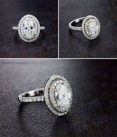 Oval-cut diamond engagement ring #ovalcut #diamond #ring