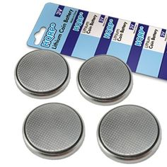 HQRP 4Pack Coin Lithium Battery for LifeTrak Brite R450 Zone 410 Core C200 Smart Health Life Trak Fitness and Sleep Monitor Tracker  Coaster -- Click image to review more details.