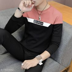 Checkout this latest Tshirts Product Name: *EYEBOGLER 100% Cotton Regular Fit  Round Neck Full Sleeve Men's T-Shirt* Fabric: Cotton Sleeve Length: Long Sleeves Pattern: Colorblocked Multipack: 1 Sizes: S, M, L, XL, XXL Country of Origin: India Easy Returns Available In Case Of Any Issue   Catalog Rating: ★4 (231)  Catalog Name: Classic Fashionable Men Tshirts CatalogID_2202957 C70-SC1205 Code: 583-11664663-339