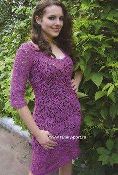 летнее платье из мотивов