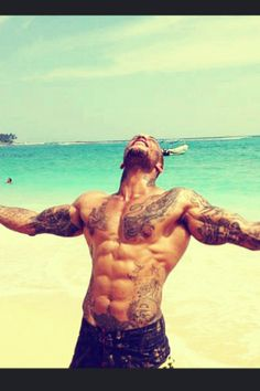 Beach, Sun, Hot Guy with Tatoos. What more do you want? :)