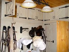 I like the white storage with black accents for the tack room... For when I build in storage to the tack room in the barn.