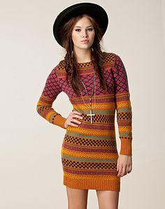 Indie Knit Dress - Object - Orange -