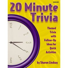 The trivia questions in this book are designed to exercise the pathways to long-term memory and to tap information that most senior citizens...