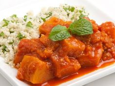 Smoked pumpkin with minted couscous
