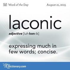 laconic: concise