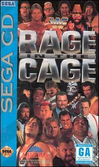 Wrestling game cover Art | Cover art for WWF Rage in the Cage on Sega CD