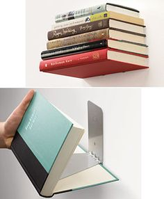 Floating books on the wall.