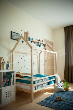 Wood bed house frame bed baby bed nursery crib Kids teepee Children bed Toddler bed Children furniture Montessori bed Sweet Home from wood Canopy Bedroom Sets, Twin Canopy Bed, Wood Canopy Bed, Bed Tent, Kids Bedroom, Kids Canopy, Bedroom Suites, Childrens Bedroom, Bedding Sets