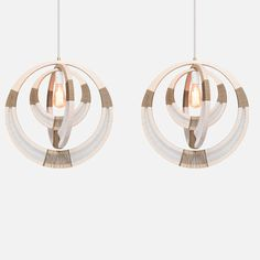 Woven Necklace Pendant Light Lampshade | 54 Kibo | $500