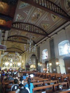 Inside Basílica Minore del Santo Niño de Cebu.