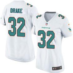 Women's Nike Miami Dolphins #32 Kenyan Drake Limited White NFL Jersey