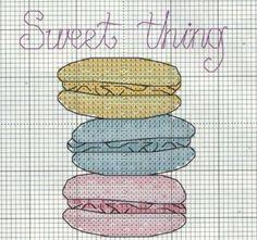 Macaron cross stitch.. Bir gün bu güzellerden yaparsam evim pek bi cici olur yahuuu