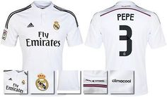 *14 / 15 - #adidas ; real #madrid home shirt ss / pepe 3 = kids & #junior size*,  View more on the LINK: http://www.zeppy.io/product/gb/2/371259276664/