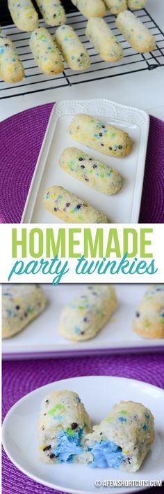 No more store bought snack cakes! Make your own Homemade Party Twinkies with this simple recipe and everyone will want your lunch.  These can be made gluten free & dairy free too!