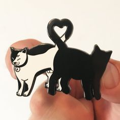 kitty love pin by strike gently co