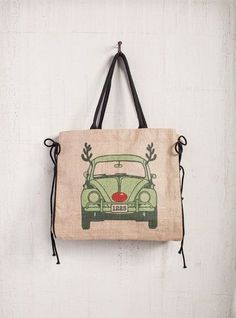 Rudolph Bug Holiday Market Tote