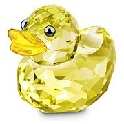Swarovski The Lovlots Happy Duck - Sunny Sandy Figurine Glass Figurines, Collectible Figurines, Swarovski Crystal Figurines, Swarovski Crystals, Swarovski Outlet, Uñas Fashion, Glass Animals, Shades Of Yellow, Happy Colors