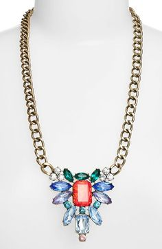 BaubleBar 'Drama' Stone Cluster Pendant Necklace (Nordstrom Exclusive) available at #Nordstrom