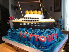 Titanic cake# le torte di ste# my first titanic cake# Titanic Cake, Titanic Underwater, Birthday Cake, Desserts, Food, Tailgate Desserts, Deserts, Birthday Cakes, Essen
