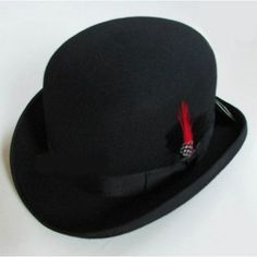 Cheap billycock hat, Buy Quality bowler hat directly from China fedora hat Suppliers: Women's Men's Black Winter Warm Wool Bowler Hat Fedora Hat Hantom lr Amir Khan elope Gentleman Leather Luxury Billycock Hats Bowler Hat, Fedora Hat, Black Fedora, Mens Dress Hats, Men Dress, Man Dressing Style, Western Hats, Fashion Updates, Derby Hats
