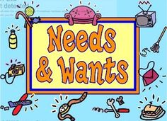 Promethean flipchart: Differentiating between Wants and Needs