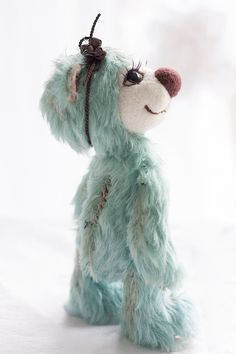 Collectible OOAK Artist mohair teddy bear Piper by SoftlyBearPaw