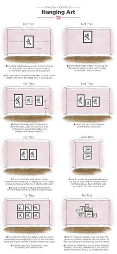 The Dos & Don'ts of Hanging Art: An Illustrated Guide — Be Your Own Designer