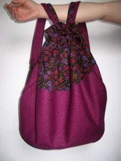 kwiatowo - buraczany  więcej na: https://www.facebook.com/szycie.zet  #plecak #bag