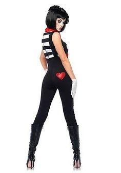 Damen-Kostüm Leg Avenue - Marvelous Mime - Clown Pantomime Harlekin sexy Zirkus