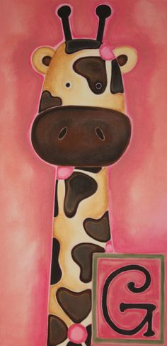 10 x 20 Original Acrylic Painting on Canvas G is by LittleBitties, $65.00