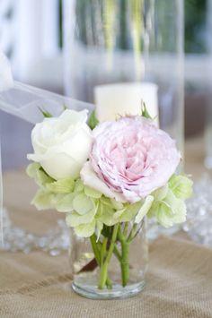 small ... rose + peony + hydrangrea