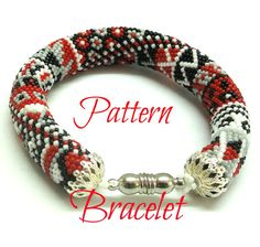 Bracelet Crocheted Beads Rope pattern Tutorial for by artefyk, $9.00